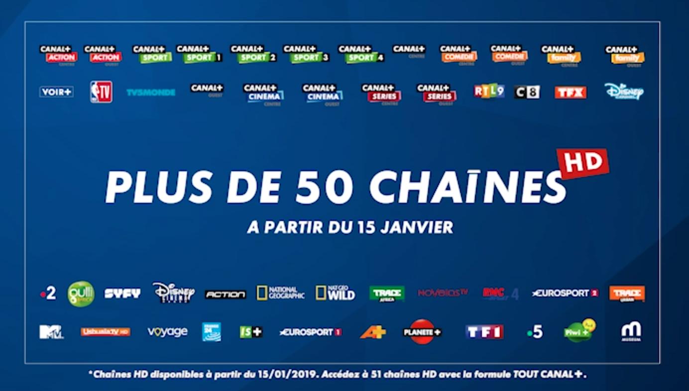 50 chaines HD sur Les Bouquets CANAL+