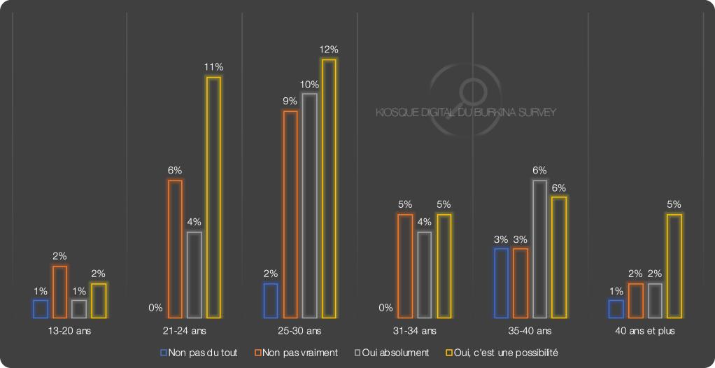 Kiosque Digital du Burkina Survey - January 2020